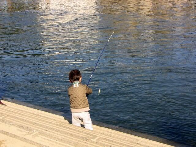 子供の釣り