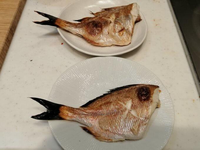 真鯛とチダイの焼き魚
