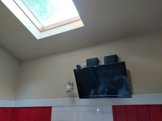 コテージのテレビ